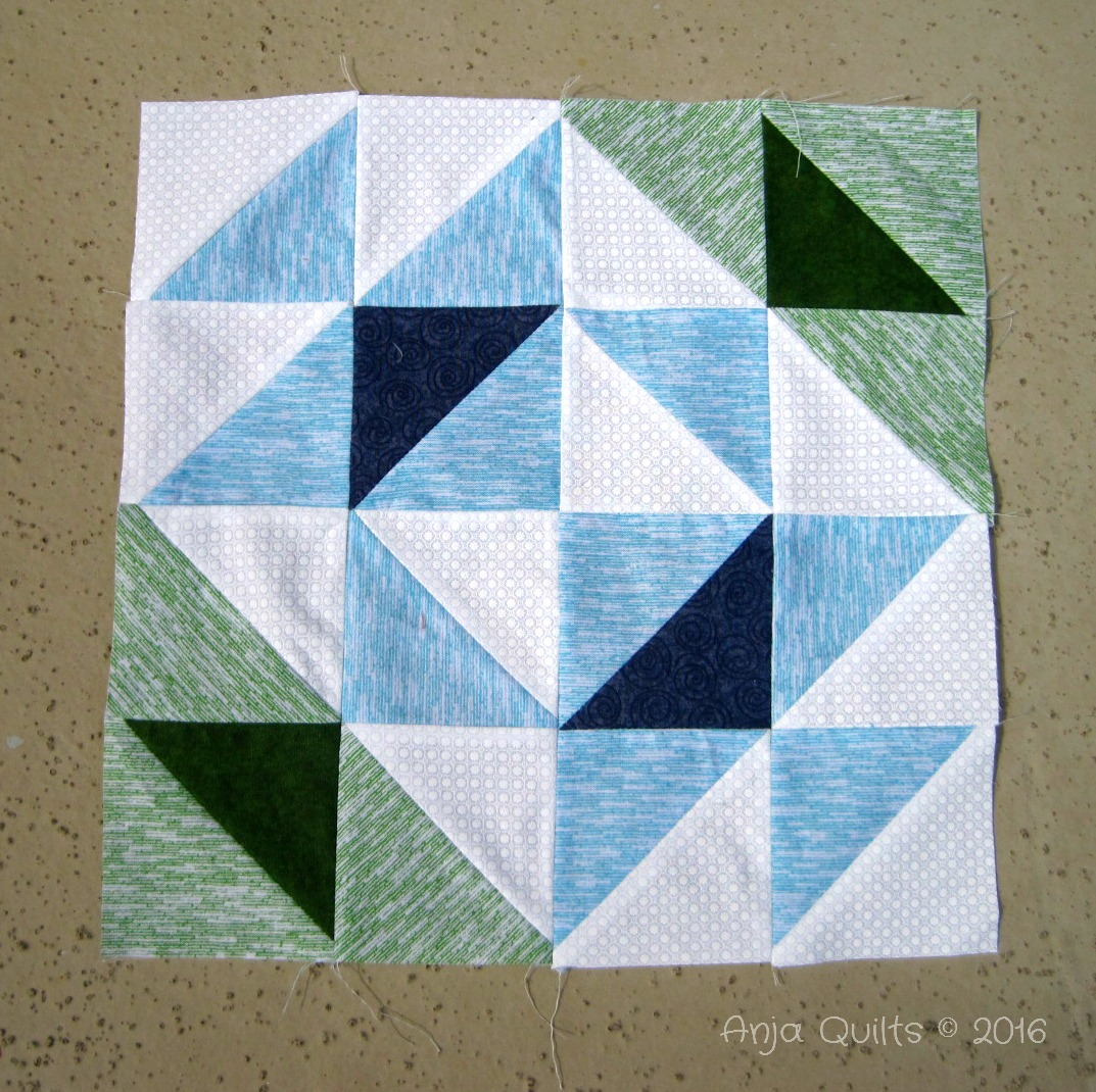 Anja quilts modern hst sampler q2 blocks for Modern house quilt block