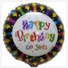 Balon Foil Bulat Motif HAPPY BIRTHDAY TO YOU / Balon Foil HBD