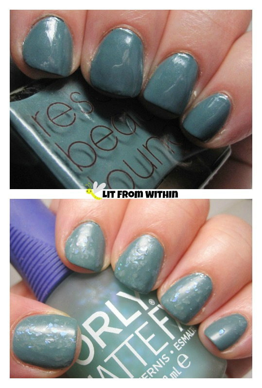 Rescue Beauty Lounge 360 and Orly Green Flakie Topcoat