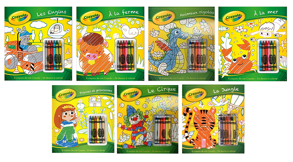 The Crayon Blog: The French Crayola Coloring Books Complete ...