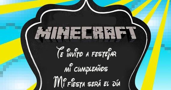 Tarjetas De Cumpleaños Para Imprimir Tarjeta Minecraft Gratis