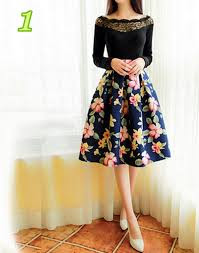 Model Rok Pendek Bunga Selutut
