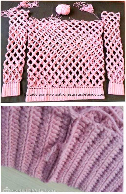 suéter-crochet-rombos