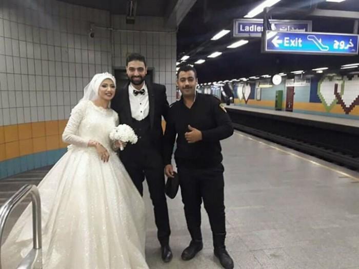 أول تعليق من أسرة «عروسة المترو» (صور)