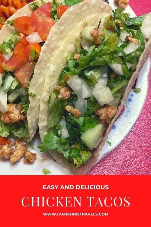Recipe for chicken tacos