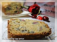 Cake moelleux aux cerises, sans gluten, sans lactose