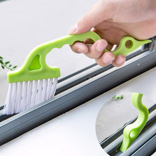 Image: Groove Gap Cleaning Tool | Window Track Cleaning Brush is a two-in-one tool that makes quick work of a tedious task!