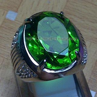 Cincin Batu Green Tektite - ZP 852