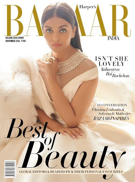 Aishwarya Rai - Harper's BAZAAR INDIA - Novembre 2016