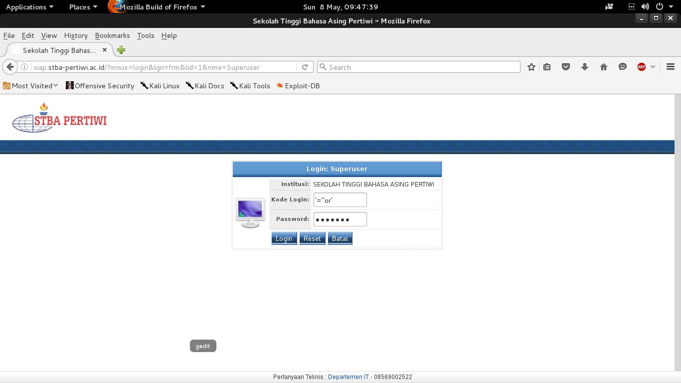 Cara Deface Web Informasi Siakad Kepo Z Script Sistem Rmasi Akademik Sekolah Sisfo 4 Bisa Langkah Ketiga Tadi Kalo Tampilannya Kayak Gambar Dibawah Nah Selanjutnya Kalian Pilih Menu Keuangan 02 File Biaya Mhsw