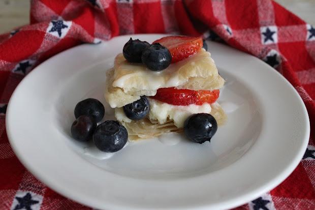 Freshman Cook Blueberry And Strawberry Mini Napoleons