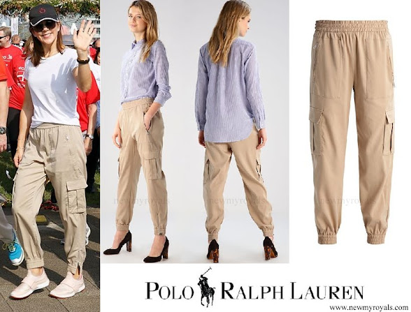 Crown Princess Mary wore Polo Ralph Lauren Ansly Cargo Trousers