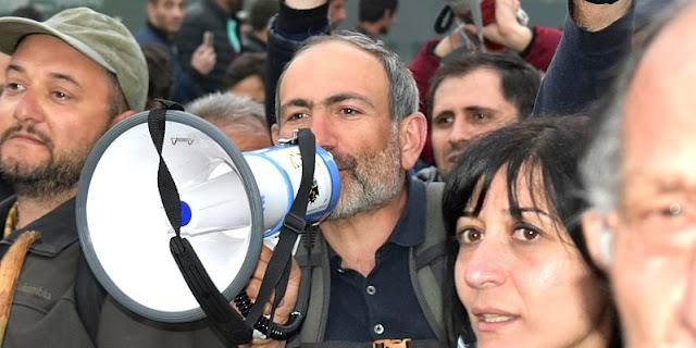 Image Attribute:  Nikol Pashinyan at Freedom Square (Opera), Yerevan, Armenia, April 13,  2018, | Yerevantsi, Wikimedia Commons