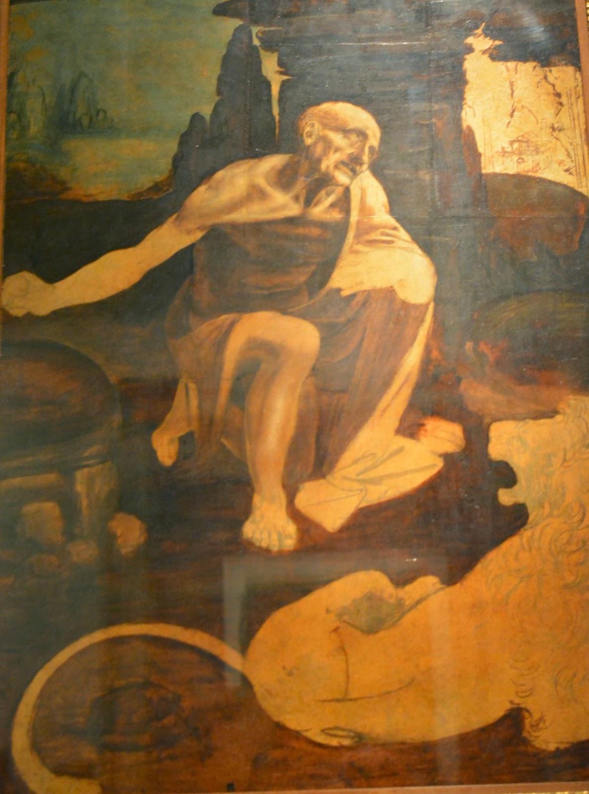 Leonardo Da Vinci St Jerome in Vatican Museum Rome
