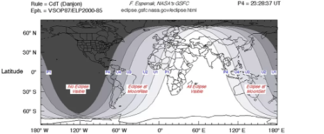 July's total lunar eclipse showing exact charts.