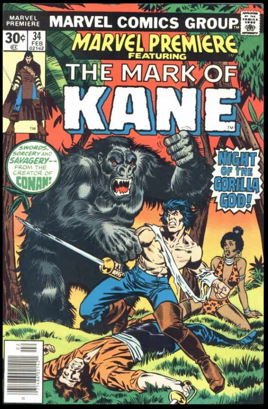 Portada de Marvel Premiere Featuring: Mark of Kane #34, obra de John Buscema y Howard Chaykin