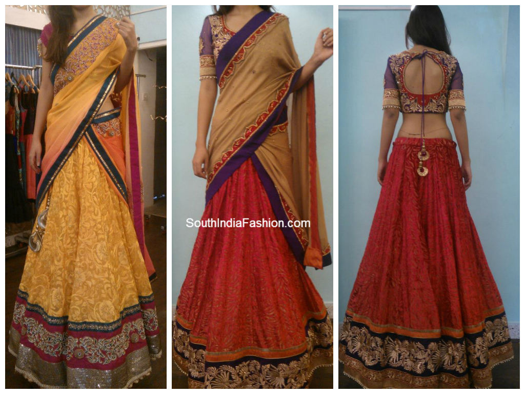 Half saree blouse design shreya saro shreshtha on pinterest