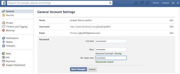 how to change your password on facebook if you forgot it