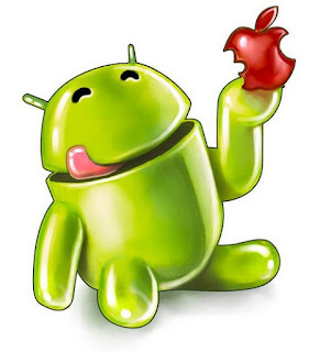 Hungry Android Eating Apple