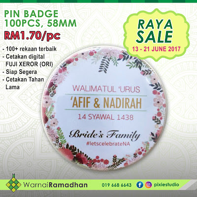Cetakan Button Badge Raya