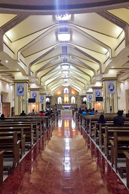 Interior of Santo Domingo Church in Batanes