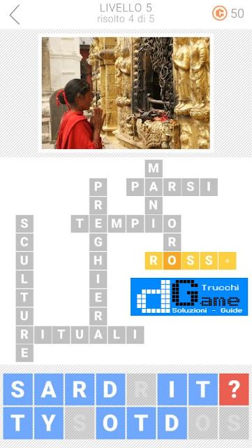 Soluzioni Parole collegate 3: Cruciverba | Livello 5
