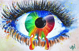colourful eye pic