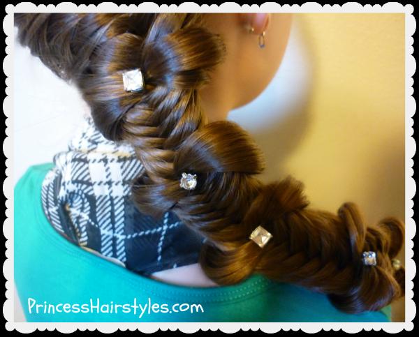Surprising Fishtail Bow Tie Braid Hairstyle Hairstyles For Girls Princess Short Hairstyles Gunalazisus