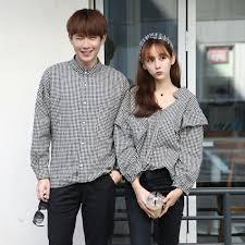 Desain Baju Kemeja Couple Lengan Panjang