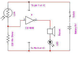 Electronics Projects Circuit Diagrams | Ldr Based Electronic Eye Project Circuit Diagram Electronic