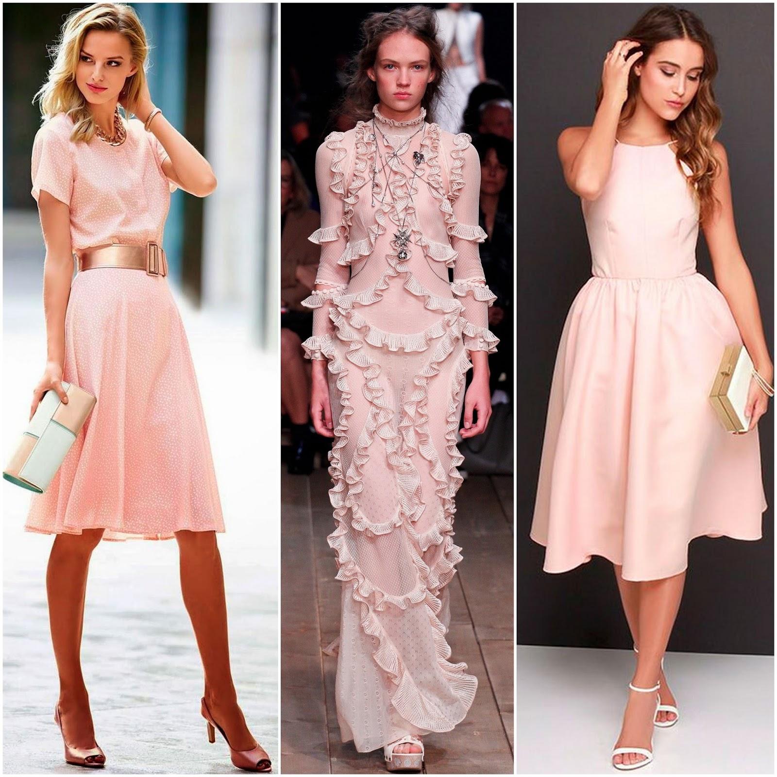 сочетание платья цвета пудры с туфлями фото если правильно помню