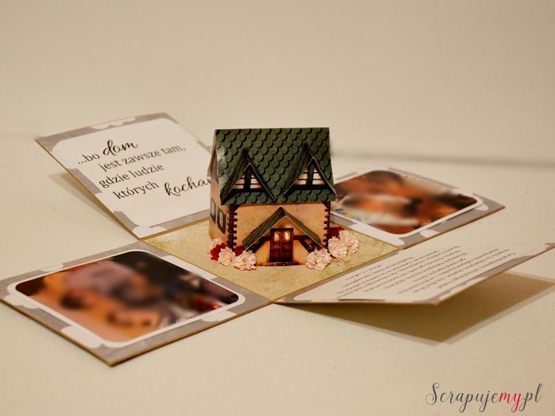 na nowe mieszkanie, kartka na nowe mieszkanie, box na nowe mieszkanie, box z domkiem