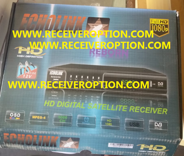 ECHOLINK REBORN AC/DC 12V HD RECEIVER POWERVU KEY NEW SOFTWARE