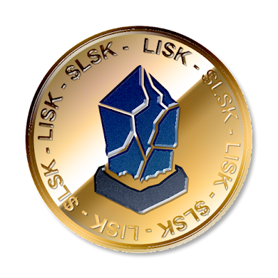 リスク(Lisk)のフリー素材(金貨ver)