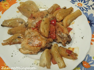 Pollo e finocchi - Ricetta con carne di pollo