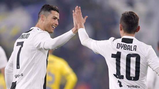 Juventus Cristiano Ronaldo and Paulo Dybala