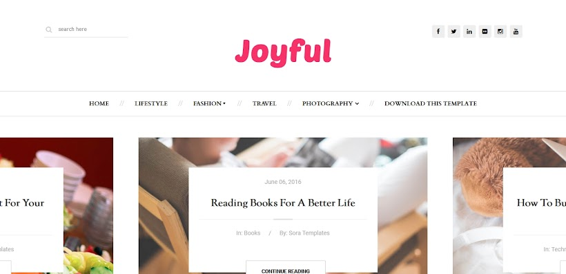 JoyFul Fashion Free Blogger Template