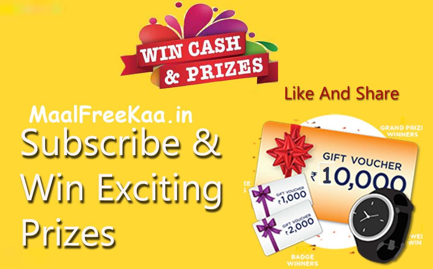 Online Contest | Prize Draw | Giveaways | Cash 13,000 Rs