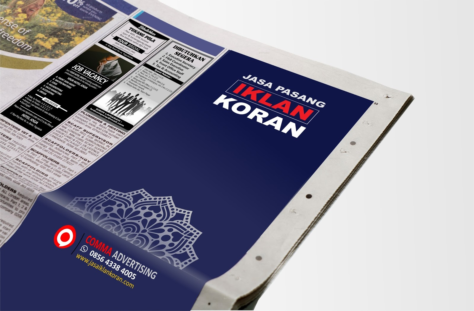 Contoh Iklan Kolom Di Koran Beserta Ukuran Biro Iklan Koran