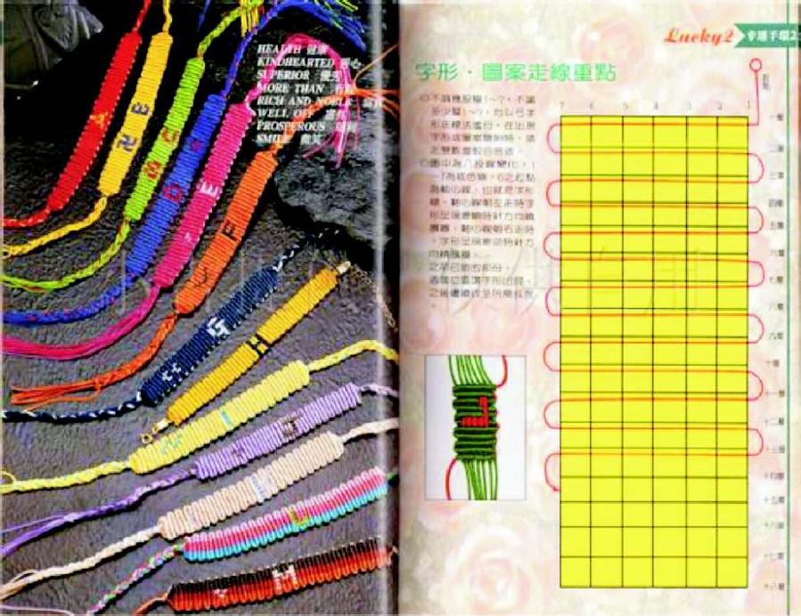como hacer pulseras con nombres de hilos enrhedando