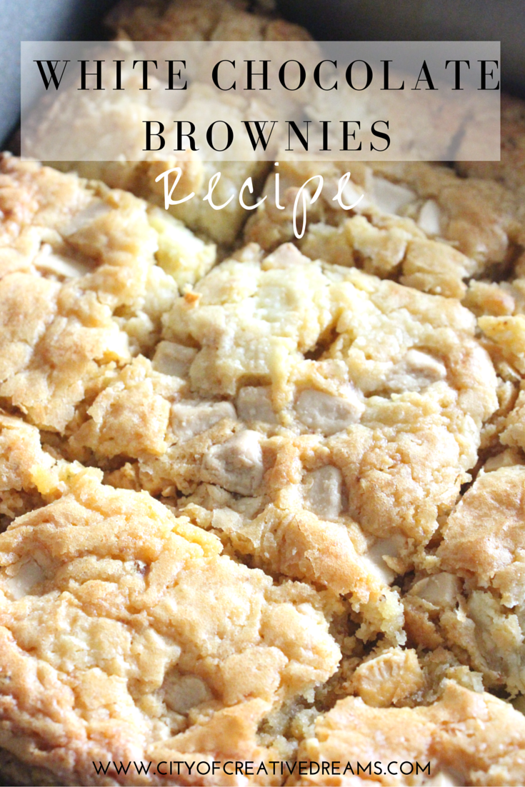 White Chocolate Brownies Recipe | City of Creative Dreams