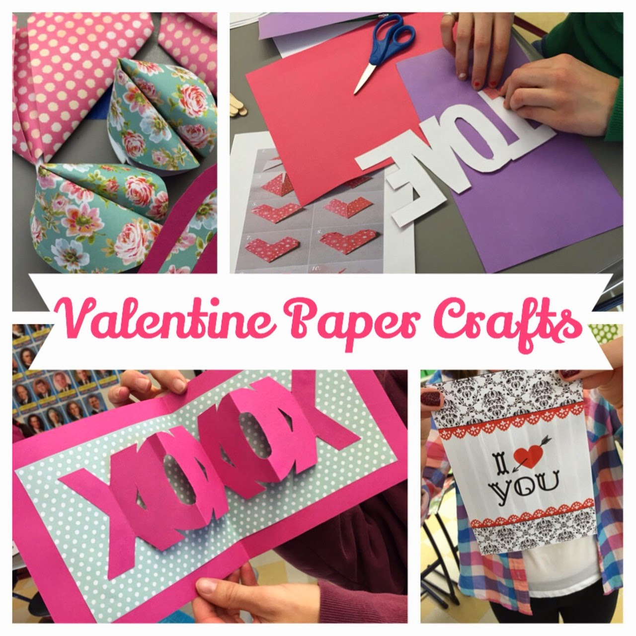 Crafty Teacher Lady February 2013: Crafty Teacher Lady: Craft Club: Valentine Paper Crafts