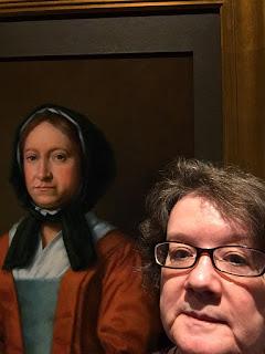Amy-Fox-with-portrait-of-Hannah-Penn