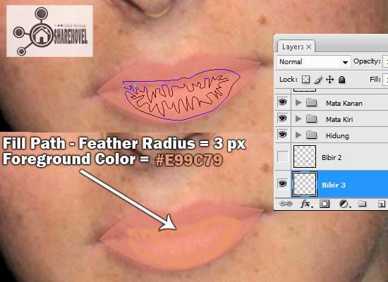 cara membuat vector bibir menggunakan photoshop  - tutorial membuat vector di photoshop - membuat foto menjadi kartun dengan photoshop
