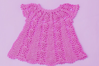 Vestido rosa a crochet y ganchillo Majovel Crochet 4