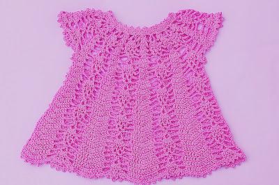 Vestido rosa a crochet y ganchillo Majovel Crochet 4