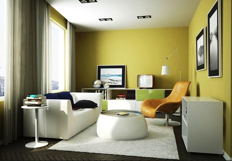 Warna Cat Interior Rumah Minimalis Kuning