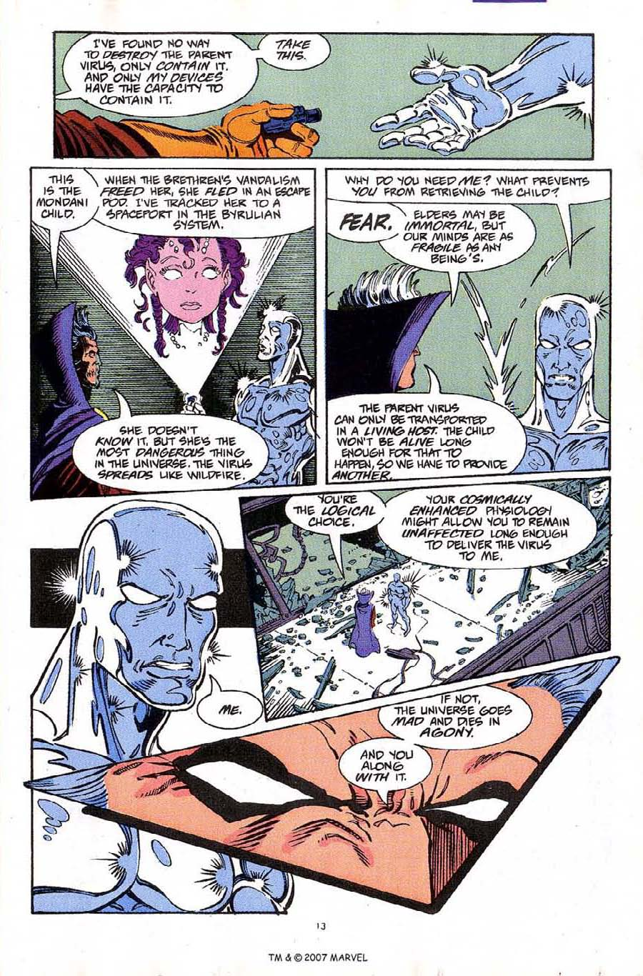 Read online Silver Surfer (1987) comic -  Issue #61 - 15