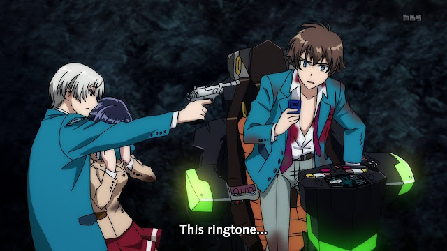Haruto piloting Valvrave but got caught