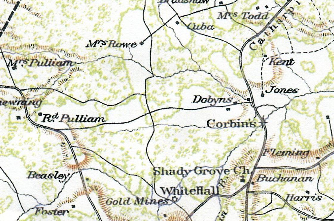 detail spotsylvania county map 1863